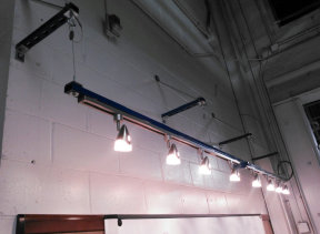 Electric contractors southern indiana southeastern indiana custom industrial track lighting aloadofball Image collections